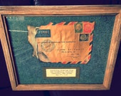 Piece of German mail partially burned by the Hindenburg Disaster