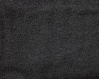 Bamboo Viscose Spandex 2x1 Rib Knit Fabric by the Yard EcoFriendly HEATHER CHARCOAL