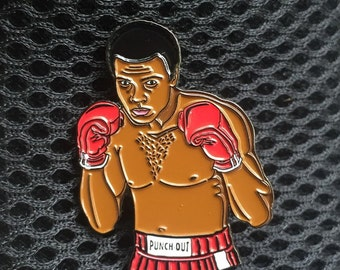 The Greatest Trippy Lapel Hat Pin Muhammed Ali Punch Out