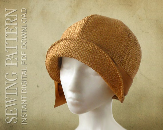 1920s Accessories | Great Gatsby Accessories Guide SEWING PATTERN - Lucille 1920s Twenties Cloche Hat for Child or AdultSEWING PATTERN - Lucille 1920s Twenties Cloche Hat for Child or Adult $14.00 AT vintagedancer.com