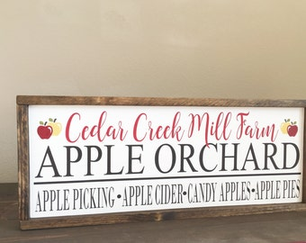 Apple Orchard Sign - Personalized Apple Orchard Sign - Apple Patch Sign - Fall wood sign - Fall Farmhouse Decor
