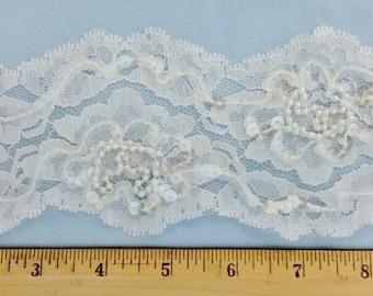Wedding beaded lace trim