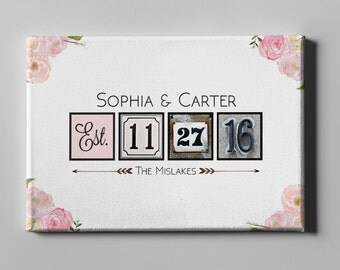 SALE 50% Off Canvas Guest Book, Wedding Canvas Guest Book, Flowers Guest Book, Wedding Gift, Unique Keepsake, FREE SHIPPING! (CGB12)