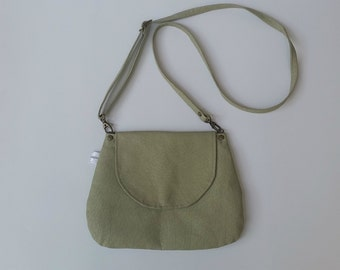 Cross body bag, Vegan cross body bag, Green vegan crossbody bag, Messenger bag ,Green Messenger bag, Shoulder bag, vegan bag