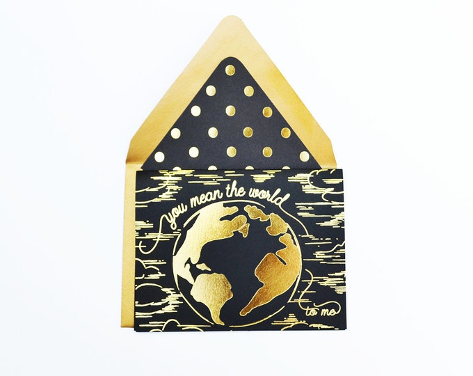 You Mean the World to Me Black Card