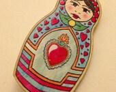Russian Doll Brooch