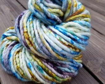 "Hand Dyed Superwash Merino Wool/Nylon in ""Moroccan Tile"". Hand Dyed Yarn. Wool Yarn. Bulky Yarn."