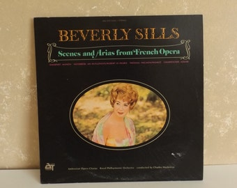 Beverly Sills Scenes Arias from Fr Opera Vinyl LP Audio Treasury Records R-35