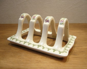 Vintage Masons ironstone toast rack in the Madrigal pattern