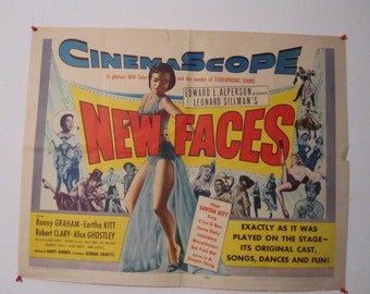 New Faces  movie half sheet with Eartha Kitt