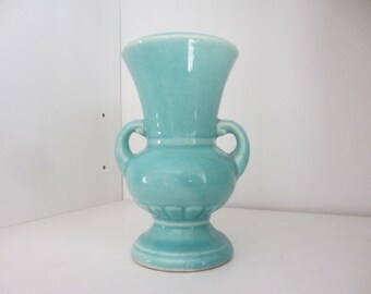 Small green vase 5 inches tall