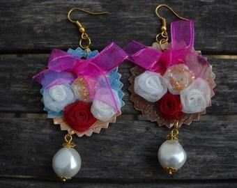 fused plastic earrings Midas.Romântica