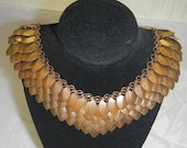 RESERVED LISTING for Nica from Germany - Bronze Scale Maille necklace and a FREE pair of earrings