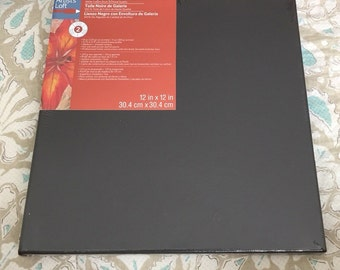 "12"" by 12"" Black Canvas"