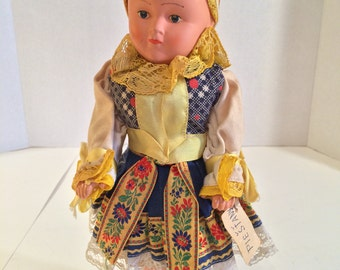 12 inch Composition Doll from Piestany, Slovakia in Native Costume