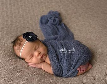 Baby Headbands Navy Headbands Burnt flower headband Babies Photography Prop Newborn Photo Prop Halo Headband