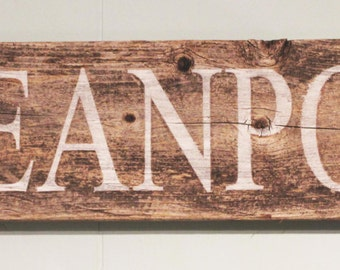 Reclaimed Wood Sign with Rope