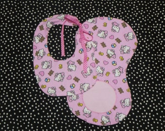 Hello Kitty/Hello Kitty Bibs Set/Burpee Set/Baby Bibs Set
