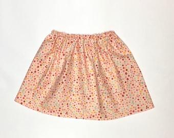 Twirl Skirt - Girls Skirt - Floral Skirt - Baby-Toddler-Girls Skirt - Pink Skirt