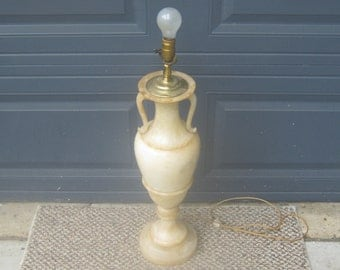 Single Tall Alabaster Lamp
