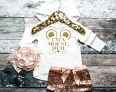 Baby Girl Clothes I'm A Mouse Hoodie I'm A Mouse, Duh Shirt Girls' Clothes Baby Gift White And Gold #103