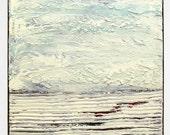 "acrylic painting, landscape Painting, original handmade painting, home & living art M.Schöneberg  ""White horizon""16x16x0,75"