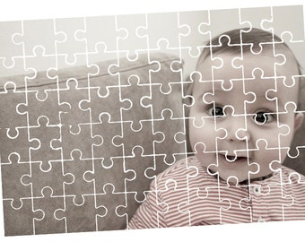 Custom Personalized Puzzle Pieces / Rectangular Puzzles Photo Transfer / Family Game, Gift, Unique Present Picture + Free Random Decal Gift!