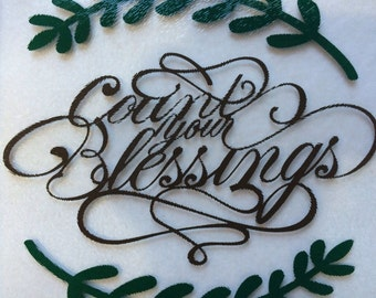 "Glass cutting board ""count Your Blessings"""