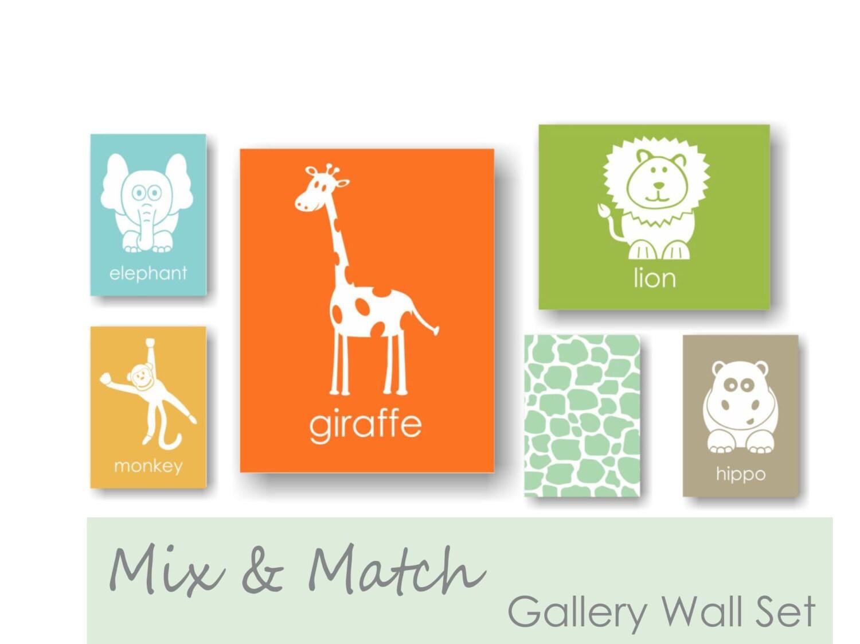 Gallery Wall Art Prints Set Of 6 Modern Nursery Wall Art