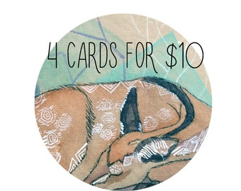 4 Cards for 10 dollars