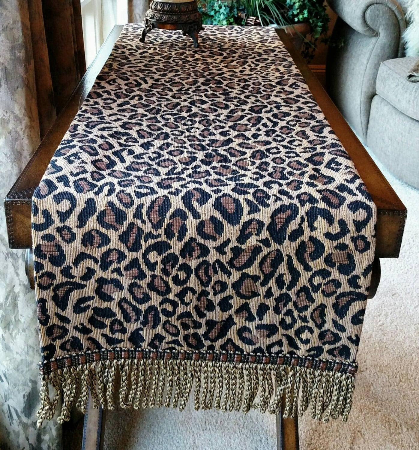 Zebra Print Kitchen Decor: Leopard Print Table Runner Home Decor Kitchen By