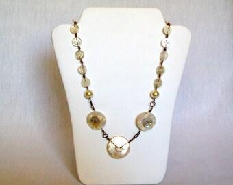 Necklace, Button Necklace, Buttons - Button Up