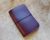 Cranberry Simple Leather Notebook Cover