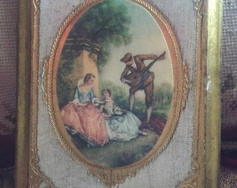 Country Romantic Shabby Chic Victorian italian Florntine Picture