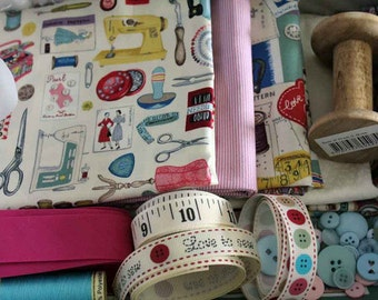 Fabric Box - Deluxe Vintage Sewing Theme