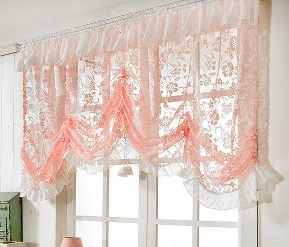 items similar to pink balloon shade valance curtain window