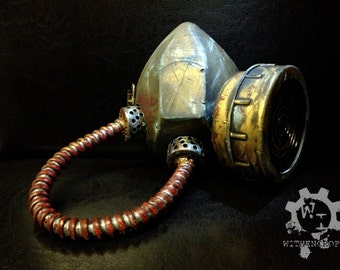 Fallout Wasteland Functional Gas Mask / Respirator, Steampunk Zombie Post-Apocalyptic Costume, Now Comes with extra replacement Filters!