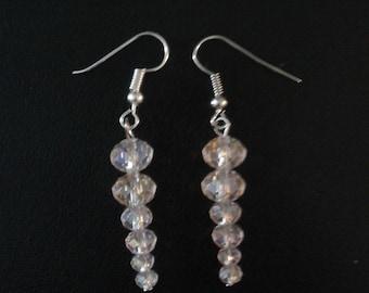 Icicle Earrings, Pink Icicle Earrings, Icicle Earrings Handmade, Icicle Dangle Earrings