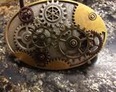 Wonderful Steampunk Gears That Turn Belt Buckle - Industrial Style
