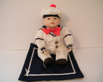 Yolanda Bello Sailor Boy Matthew,  artist signed, Ashton Drake collectible Porcelain Doll