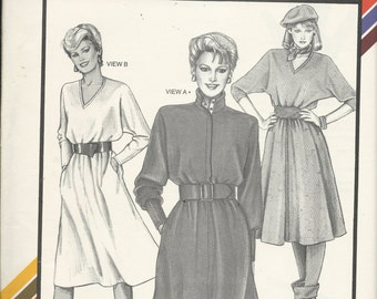 Uncut Vintage Sewing Pattern #1569 - DOLMAN DRESS - Stretch & Sew, Ann Person 1984  -Sizes 30-46 Very Stylish and Flattering - So Cute!