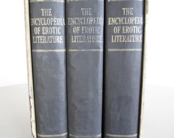 The Encyclopedia of Erotic Literature 3 Volume Set First Edition 1962