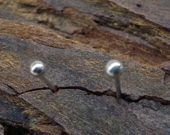 Ball post Earrings 2-3 mm Sterling Silver