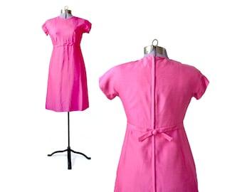 Emma Domb Dress, Pink Dress 1960s Dress, 60s Dress, Small 1960s Dress, pink 1960s Dress, mod 60s dress, small 60s dress,  vintage dress