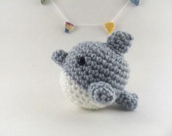 Mini amigurumi dolphin, amigurumi dolphin, crochet dolphin, tiny dolphin,kawaii, small dolphin, dolphin plush, ocean animal, under 15,sea