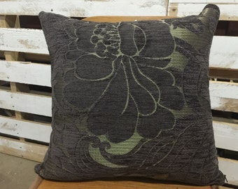 Florence Broadhurst Decorative Cushion Cover/pillow in Aubergine and Gold.