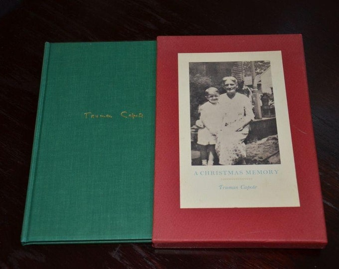 Featured listing image: A Christmas Memory Truman Capote Signed Limited Numbered Edition #382 of 600 copies with original slipcase and Mylar cover