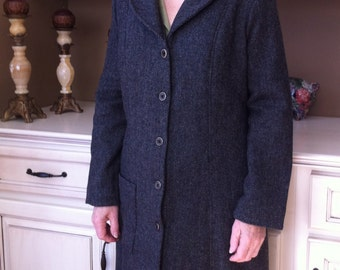 WOOL HERRINGBONE Dress Coat