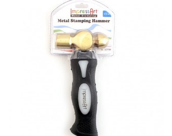 IMPRESSART - 8oz Brass Hammer | Metal Stamping Hammer  | Brass Stamper |  Hammer