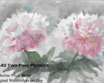 Two Pink Peonies D540